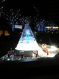 氷のクリスマスツリー